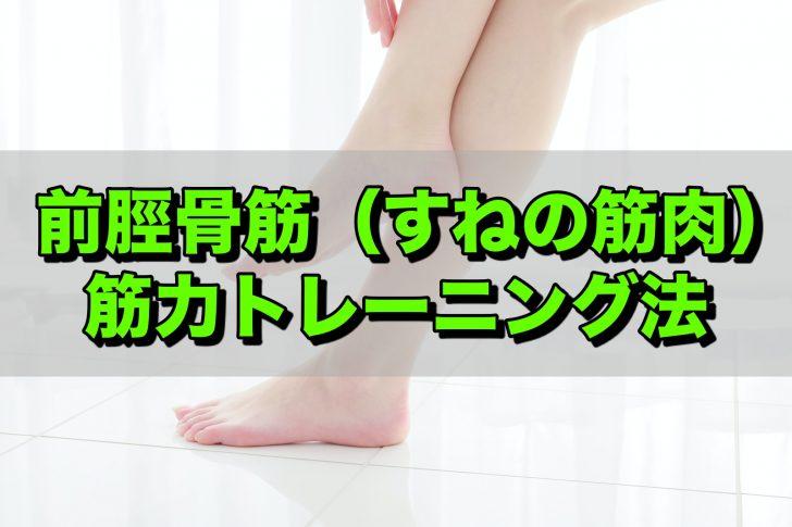 前脛骨筋筋力トレーニング法